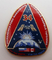 Expedition 34 ISS International Space Station Mission Lapel Pin Official NASA